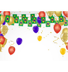 celebration party banner brazil flags and brazil vector image