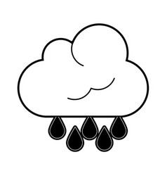 cloud with rain drops icon image vector image