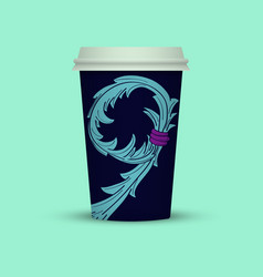 Coffee cup in abstract style cover vector