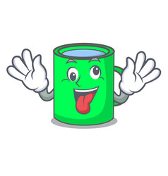 crazy mug mascot cartoon style vector image