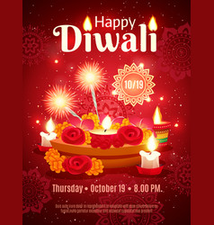 diwali holiday poster vector image