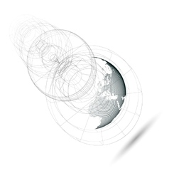 Dotted world globe isolated abstract construction vector
