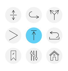 Equilizer home tag arrows directions avatar vector