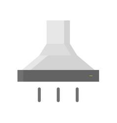 Exhaust hood extractor hood range hood icon flat vector
