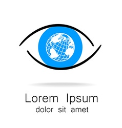 eye earth logo vector image