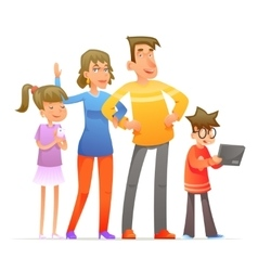 Family characters set cartoon design vector