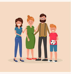 family members outside together vector image