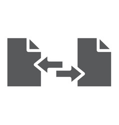 File sharing glyph icon document and computer vector