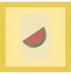 Flat shading style icon slice of watermelon vector