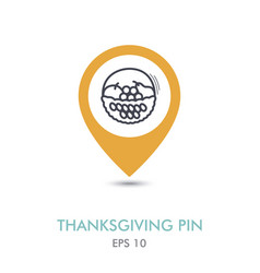 fruit basket mapping pin icon harvest vector image