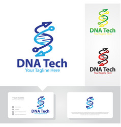 Gene tech logo designs vector