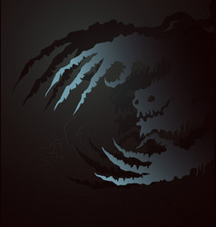 Ghostly claws vector