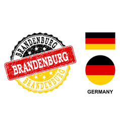 grunge textured brandenburg stamp seal with german vector image