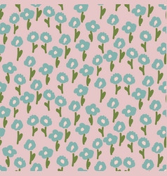 Hand drawn small flowers modern pastel pattern vector