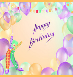 Happy birthday design for greeting cards vector