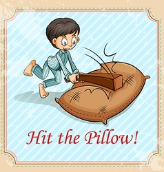 Hit the pillow vector