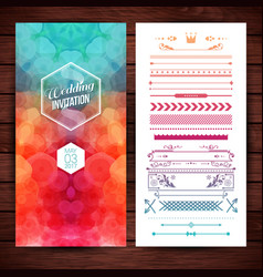 image of wedding invitation template with elegant vector image