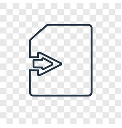 import concept linear icon isolated on vector image