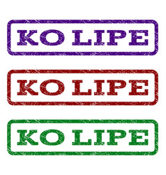 Ko lipe watermark stamp vector