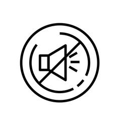Line art mute loudspeaker line icon outline vector