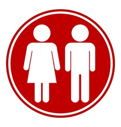 Male and Female button vector image