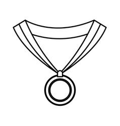 medal award win sport image outline vector image