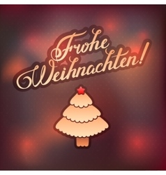 MERRY CHRISTMAS inscription in German language vector image