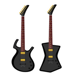 modern electric guitars vector image