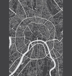 Moscow city plan detailed map vector