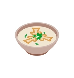 Mushroom soup icon isometric 3d style vector image