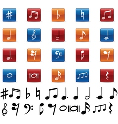 Music symbols and icons vector image