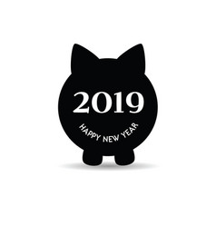 new year chinese 2019 of the pig set one vector image