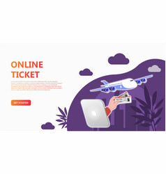 online travel store online ticket booking vector image