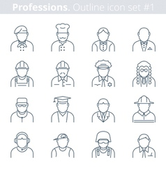 professions avatars vector image