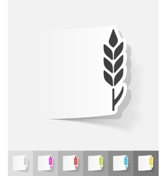 realistic design element ear of wheat vector image