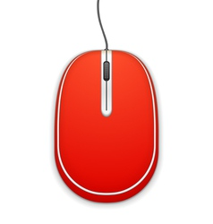 Red Computer Mouse vector