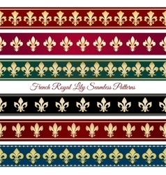 Royal seamless border patterns vector