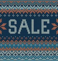 Sale Scandinavian style seamless knitted pattern vector