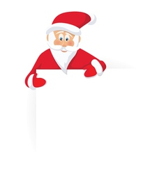 santa claus and blank sign vector image