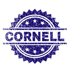 Scratched textured cornell stamp seal vector