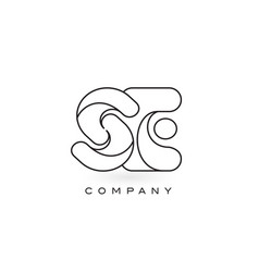 Se monogram letter logo with thin black monogram vector