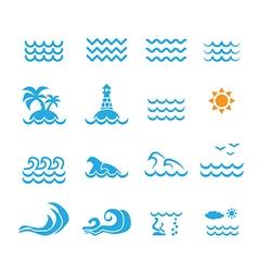 Sea icon vector