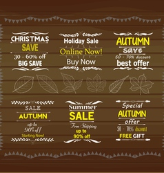 Set of special sale offer labels vector
