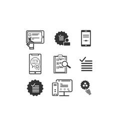 Set survey check list icon logo vector