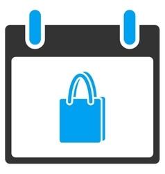 Shopping bag calendar day toolbar icon vector