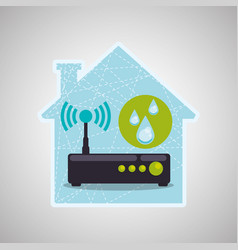 Smart house design home icon white background vector