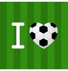 soccer ball heart vector image