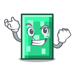 Successful rectangle character cartoon style vector