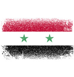 syria grunge flag vector image