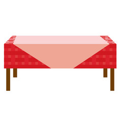 Table and tablecloth vector